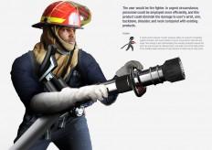 Armpit fire hose (Fireman's Prayer) on