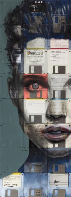Floppy Disk Women Illustration