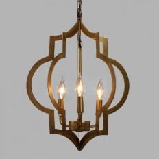 Gold Quatrefoil 3-Light Pendant Lamp   World Market
