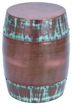 Benzara Patina Stool, Dark Copper Color - Industrial - Accent And Garden Stools - by Benzara, Woodland Imports, The Urban Port