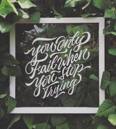 You Only Fail When You Stop Trying on Inspirationde