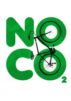 'NO C02' Cycling Poster on Inspirationde