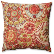 "Shop Houzz | Pillow Perfect Inc Indira Cardinal 18"" Throw Pillow - Decorative Pillows"