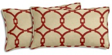 Cushion Source Embroidered Circles Lumbar Pillows, Set of 2 - Decorative Pillows | Houzz