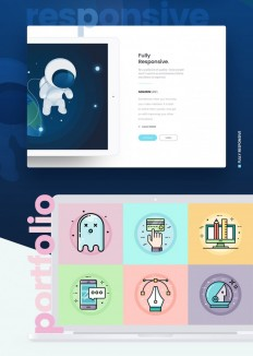 Cesis One Page – Flat Style Concept on Inspirationde