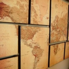 Inspiration Vault - Maps used in Interior Design & Decor - Majesty Maps and Prints