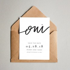 Oui // Printable Save the Dates // 5x7 save the date