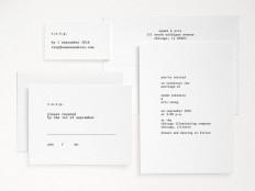 Typewriter Letterpress Wedding Invitation Hand Printed