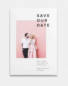 Stock Save-the-Dates That Look Totally Custom | Martha Stewart Weddings
