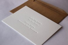 SAMPLE /// Blind debossed (inkless) Save the Date Cards on Etsy, $3.53 AUD | Stationery + Packaging | Pinterest