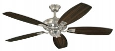 """Westinghouse Westinghouse 52"""" Nickel Finish Aiden Reversible Five-Blade Indoor Ceiling Fan - Ceiling Fans   Houzz"""
