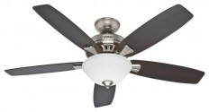 """Hunter Banyan 52"""" Ceiling Fan With Light, Brushed Nickel - Transitional - Ceiling Fans - by Lighting and Locks"""