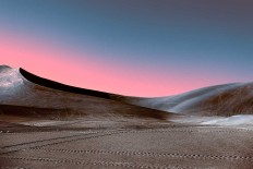 Neon Desert: Mysterious Lights of Desert by Stefano Gardel
