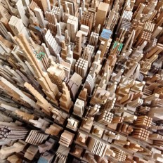 Sketching with a Band Saw: James McNabb's Scrap Wood Cityscapes | Colossal