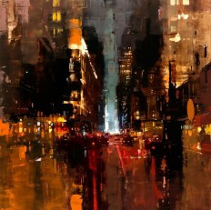 New Oil-Based Cityscapes Set at Dawn and Dusk by Jeremy Mann | Colossal