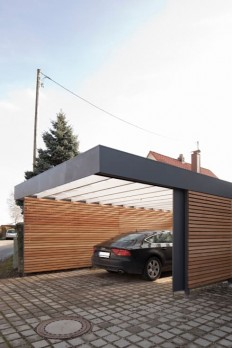 Modern garage & shed by architect Armin Hägele on Inspirationde