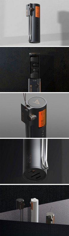 The AK G-12 Earphone charging case also acts as a controller, a screen and even comes with microSD card support, allowing you to play all your musi… | Pinterest