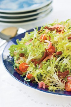 Warm Frisee Salad With Crispy Kosher Salami - Christmas Holiday Side Dishes - Southern Living