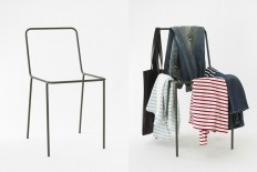 A clothes rack that looks like the clothes-covered chair in your room