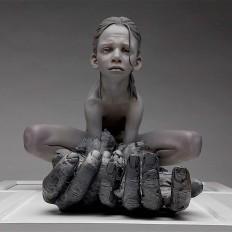 """Dress up, Frog legs""- Cast resin sculpture by Jesse John Thompson on Inspirationde"