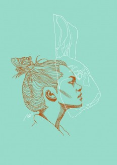 Rabbit Digital illustration 2015 on Inspirationde