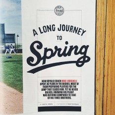 """Jon Contino on Instagram: """"I did the lettering for ESPN Magazine's MLB Preview 2014. This particular headline works on a lot of levels considering the winter we've…"""""""