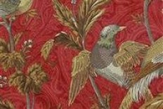 Braemore PHEASANT HUNT GARNET - DecorativeFabricsDirect.com
