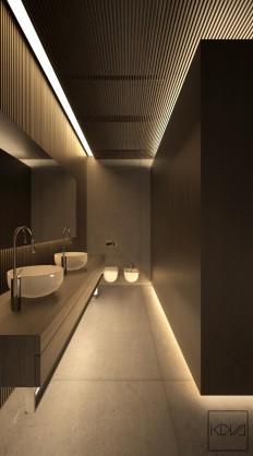 Minimalist Monochromatic Homes With Modern Lighting on Inspirationde