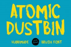 Atomic Dustbin : Free Handmade Brush Font - Free Download | Freebiesjedi