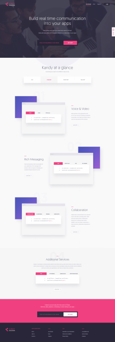 Kandy Developers Landing Page by KREATIVA Studio on Inspirationde
