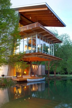 """The """"Pond House at Ten Oaks Farm"""" in Hammond, Louisiana, designed by Holly & Smith Architects. [800 × 1200] : ArchitecturePorn"""