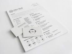 A4 Resume Sketch Template - Free Download | Freebiesjedi