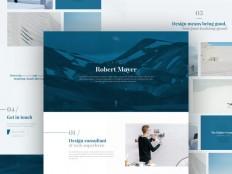 Minimalist Portfolio PSD Template - Free Download | Freebiesjedi