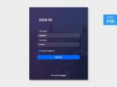 Clean Sign In Form UI PSD - Free Download | Freebiesjedi