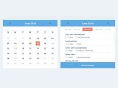 Simple Calendar Widget (Sketch) - Free Download | Freebiesjedi