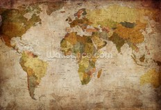 Old Style World Map Wall Mural | Old Style World Map Wallpaper | Wallsauce USA