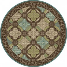 Tayse Rugs Capri Brown 5 ft. 3 in. Transitional Round Area Rug-CPR1005 6RND - The Home Depot