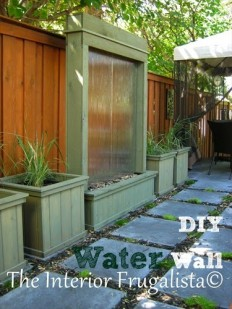 DIY Patio Water Wall | The Interior Frugalista: DIY Patio Water Wall