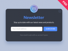 Newsletter Form PSD Template - Free Download | Freebiesjedi