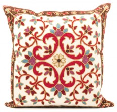 Kashmir Embroidered Throw Pillow Cover - Mediterranean - Decorative Pillows - by HouseThat