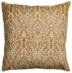 "22""x22""Gold Decorative Pillow With Hidden Zipper Removable Pillow Cover - Mediterranean - Decorative Pillows - by Zeckos"