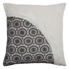 "Rizzy Home PILT0855907331818 Ivory 18"" x 18"" Pillow with Hidden Zipper and Polyester Filler - LightingDirect.com"