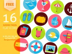 25 Free Summer Icon Set Designers Should Have - Smashfreakz