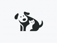 Negative Space Dog & Cat by Alfrey Davilla on Inspirationde