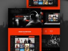 Freedom : Music PSD Web Template - Free Download | Freebiesjedi