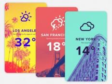 Duotone Weather App UI Design - Free Download | Freebiesjedi