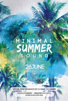 Minimal Summer Party Flyer Template on Inspirationde