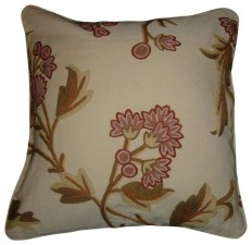 Shop Houzz   Crewel Fabric World by MDS Crewel Pillow Wintertime Sweetpine Cotton 16x16 Inches - Decorative Pillows