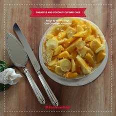 Pineapple and Coconut Custard Cake