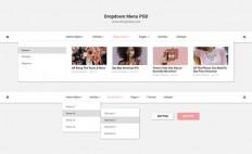 Fresh Dropdown Menu PSD - Free Download | Freebiesjedi